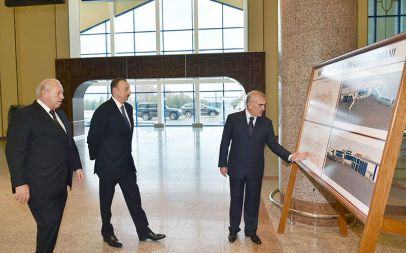 The airport terminal was reconstructed in 2015. Image courtesy of President of the Republic of Azerbaijan.