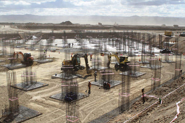 The airport construction was started in May 2013. Image courtesy of NUBIA.