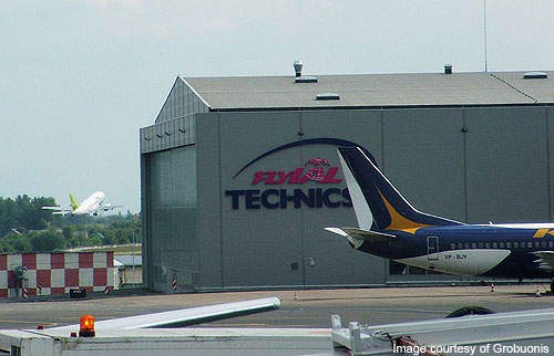 Hangar at Vilnius airport.