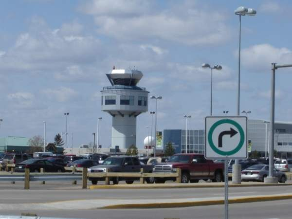 The Air Traffic Control tower at the airport was opened in 2000. Image courtesy of SriMesh.