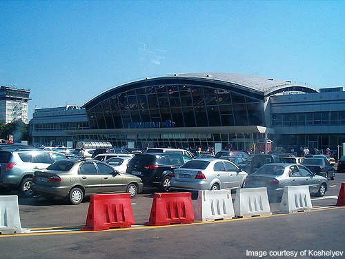 The parking lot at Terminal B.