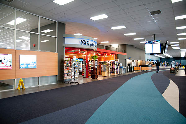 The terminal facilities at Abbotsford airport were improved during an expansion in 2011. Image courtesy of Abbotsford Airport Authority.