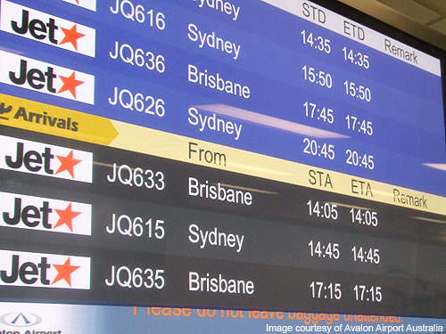 Avalon Airport has two terminals dedicated to departures and arrivals.