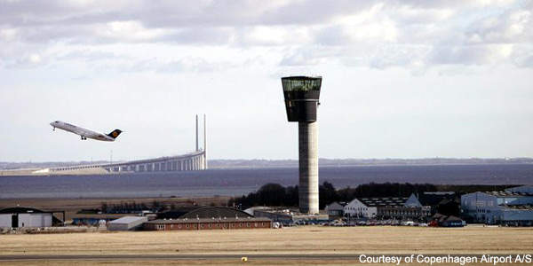 The new aircraft control tower uses a system developed in Canada.