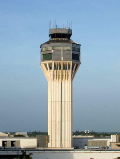 The ATC tower was built in a previous capacity expansion project at Luis Muñoz Marín airport instigated in 1991.
