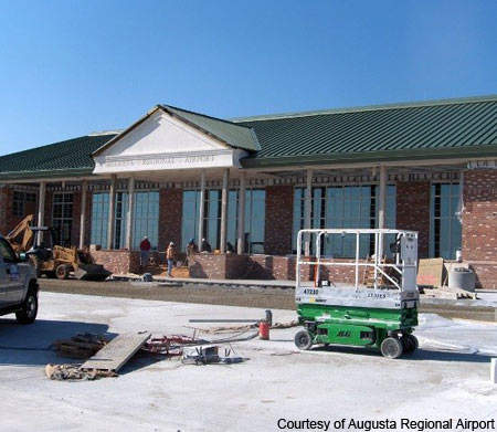 Augusta Airport's new terminal was estimated to cost over $30m.