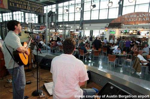 Concerts are often held at Austin-Bergstrom Airport.