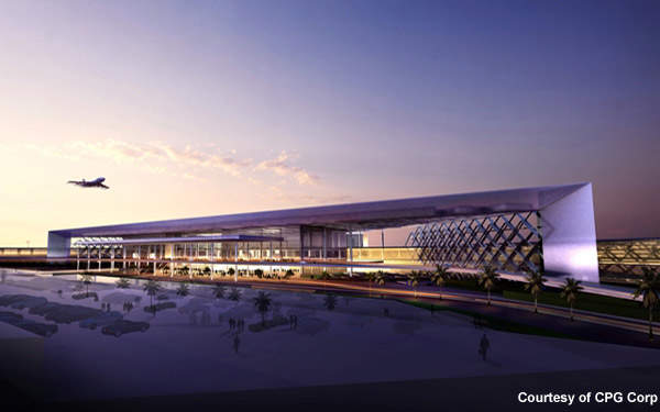 Design of the new terminal building is architecturally significant for Pakistan. Credit: Image courtesy of CPG Corp.