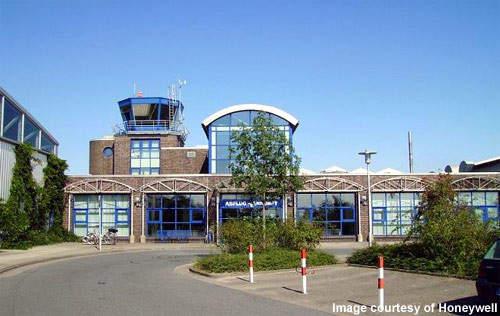 Bremerhaven airport's terminal building.
