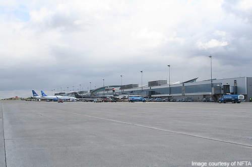 A total of eight air carriers service Buffalo Niagara International Airport.