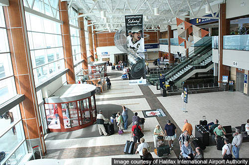 Halifax Robert L Stanfield International Airport has a single passenger terminal with three levels.