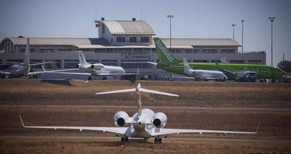 The airport provides charter, domestic and international services. Image courtesy of Lanseria International Airport.