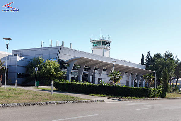 The air traffic control tower at Zadar International Airport. Image courtesy of Zadar Airport.