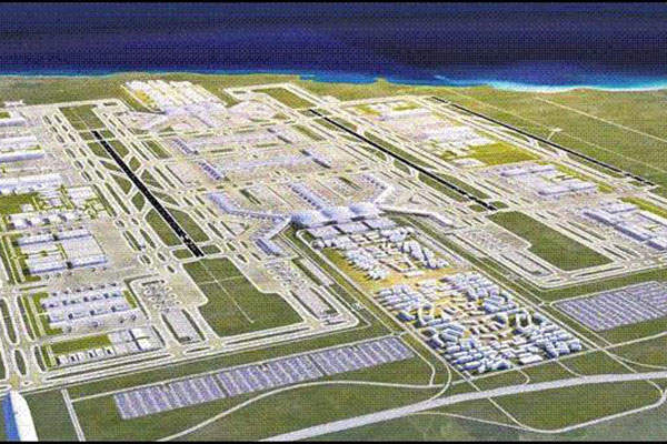 Istanbul New Airport will cover an area of about 76.5 million square metres. Image courtesy of Nupest.
