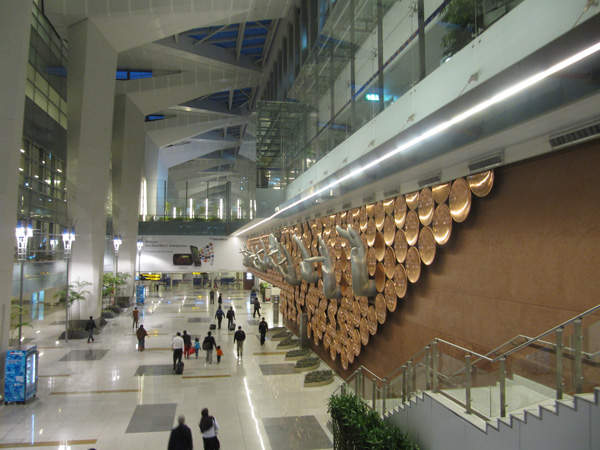 The 5.4 million square feet IGIA Terminal 3 is designed to handle 34 million passengers a year. Credit: PDXDUS.