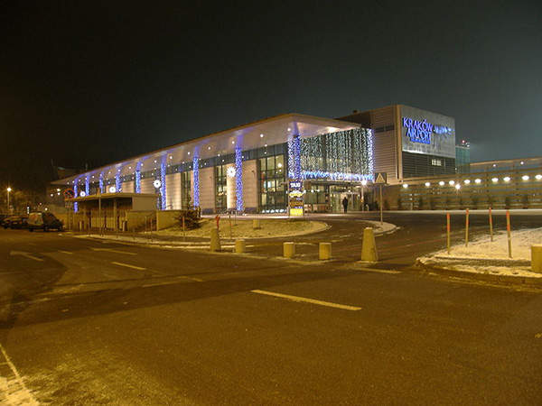 The Krakow Airport has two terminals.