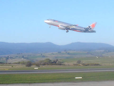 The new Launceston terminal gates will give an excellent view of the runway.