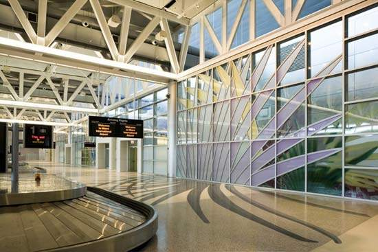 Miami International Airport's baggage handling equipment is state-of-the-art.