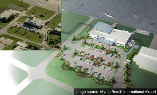 Myrtle beach's new GAT adds a new dimension of service to the airport.