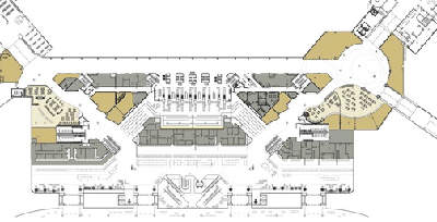 The security checkpoint area plan.