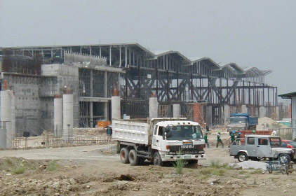 Terminal 3 construction work in 2002.