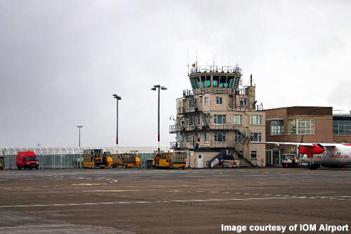The old 19m air traffic control tower which is no longer suitable for the Isle of Man Airport.