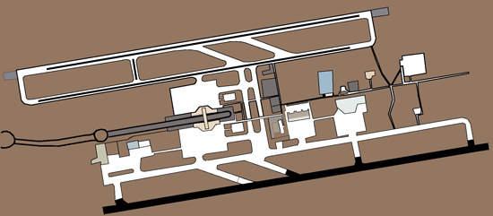 Map of Queen Alia international airport.
