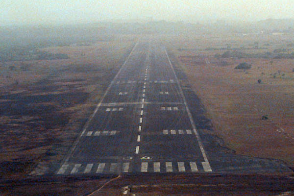 The runway approach.