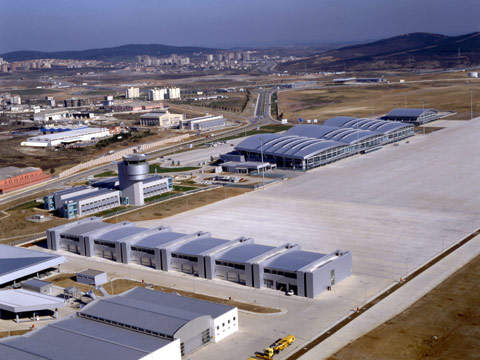 The airport was developed as a Greenfield project.