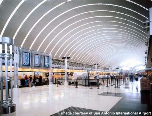 Terminal one lobby at San Antonio Airport.