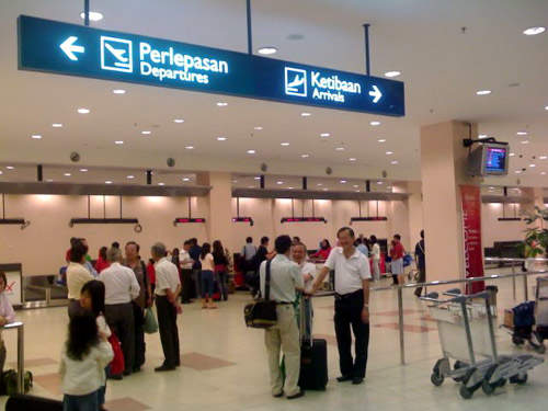 The new Kota Kinabalu International Airport terminal check-in area has 64 desks.
