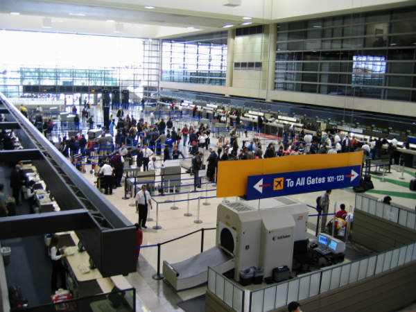 The LAX has nine terminals in a central complex.
