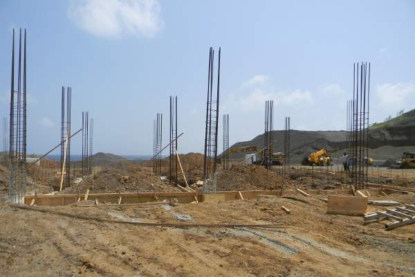 The base for the air traffic control tower was constructed by Franco Construction. Image courtesy of International Airport Development Company Limited.