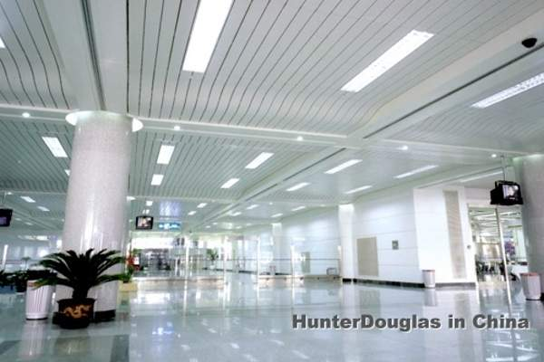 HunterDouglas supplied its Luxalon range of products for installation in the new terminal building. Image courtesy of HunterDouglas.