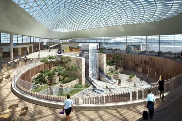 The new Terminal 2 will be 7.4 million square foot in size.