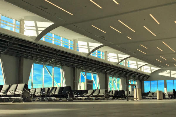 New seating has been added during the terminal expansion. Image courtesy of Plattsburgh International Airport.
