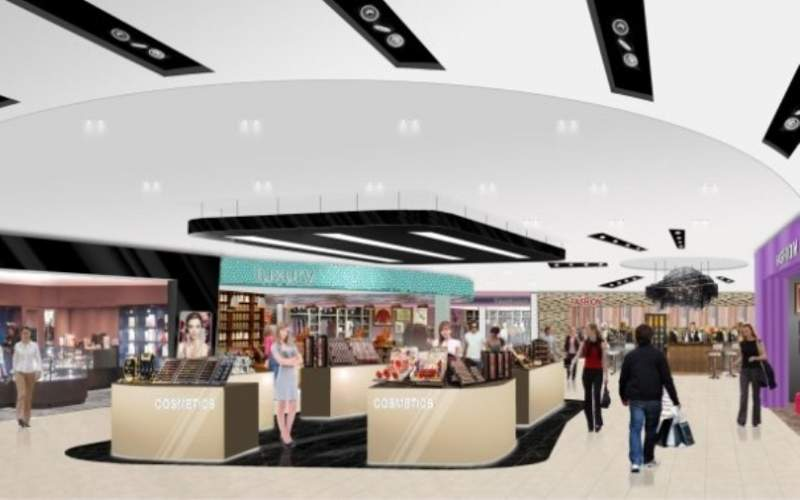 The redevelopment will double the retail offerings in the Luton airport's terminal. Credit: London Luton Airport.