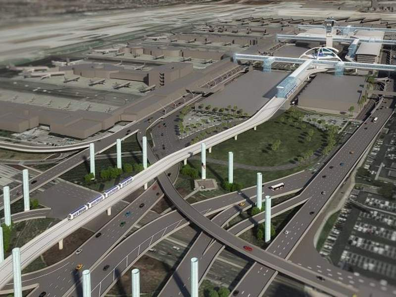 The APM system will be served by nine electrically-propelled trains. Image courtesy of Los Angeles World Airports.