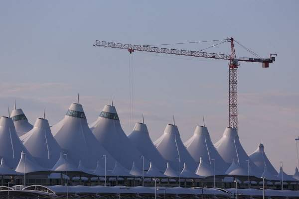 The construction of the South Terminal Redevelopment project was started in October 2011. Image courtesy of Denver International Airport.