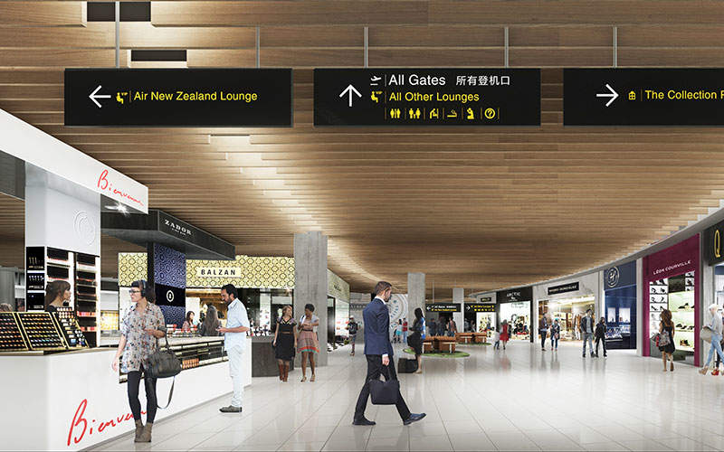 The passenger lounge will feature more space and relaxing facilities. Image: courtesy of Auckland International Airport.