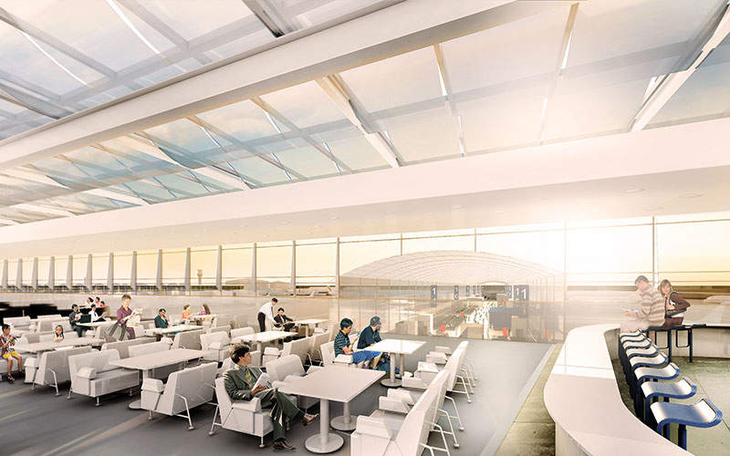 New food and beverage and retail outlets will be added during the Manchester Airport expansion. Image courtesy of the Manchester Airports Group plc.