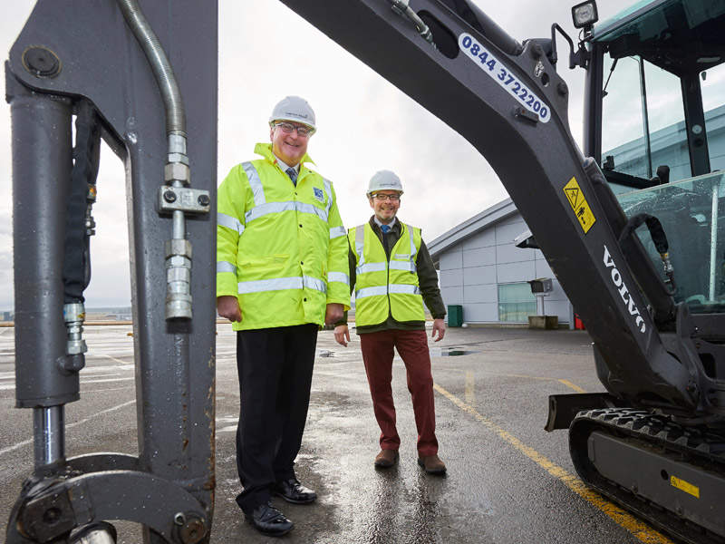 The passenger terminal expansion project at Inverness involves the construction of a new international arrivals hall. Image courtesy of Highlands and Islands Airports Ltd (HIAL).