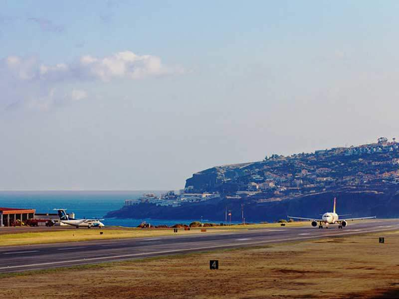 The airport's short runway was one of the world's most dangerous runways. Image courtesy of Aeroportus de Portugal (ANA).