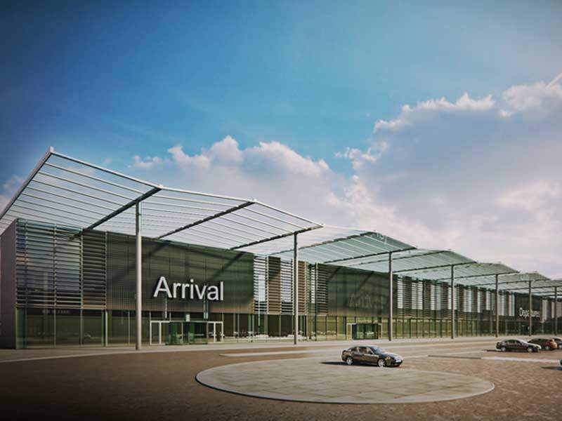 The first phase of the project also includes car parking. Image courtesy of Ramport Aero.