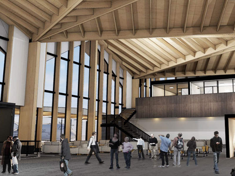Locally sourced timber will be used in the new terminal. Image courtesy of Nelson Airport Ltd.