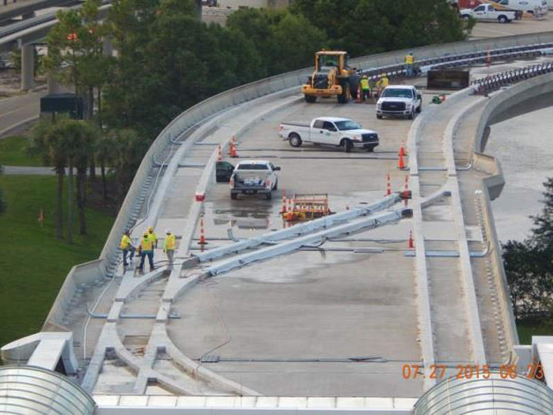 Works on the South Airport automated people mover (APM) complex are currently underway at the Orlando airport. Image courtesy of Greater Orlando Aviation Authority.