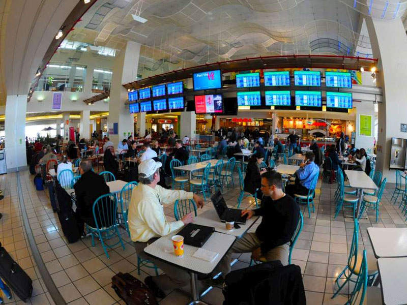 The food and beverage concessions inside the terminal were increased to 20 from five. Image courtesy of Philadelphia International Airport.