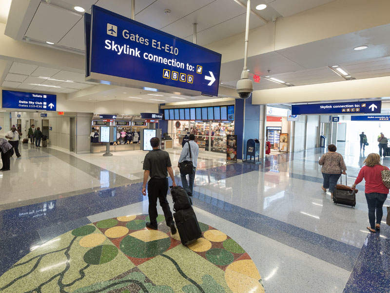 The renovated section of Terminal E was opened in April 2016. Image courtesy of The Dallas / Fort Worth International Airport Board U.S.A.