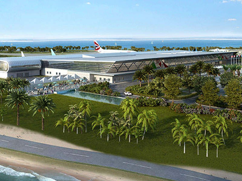 The new terminal will have a built-up area of 277,300ft².