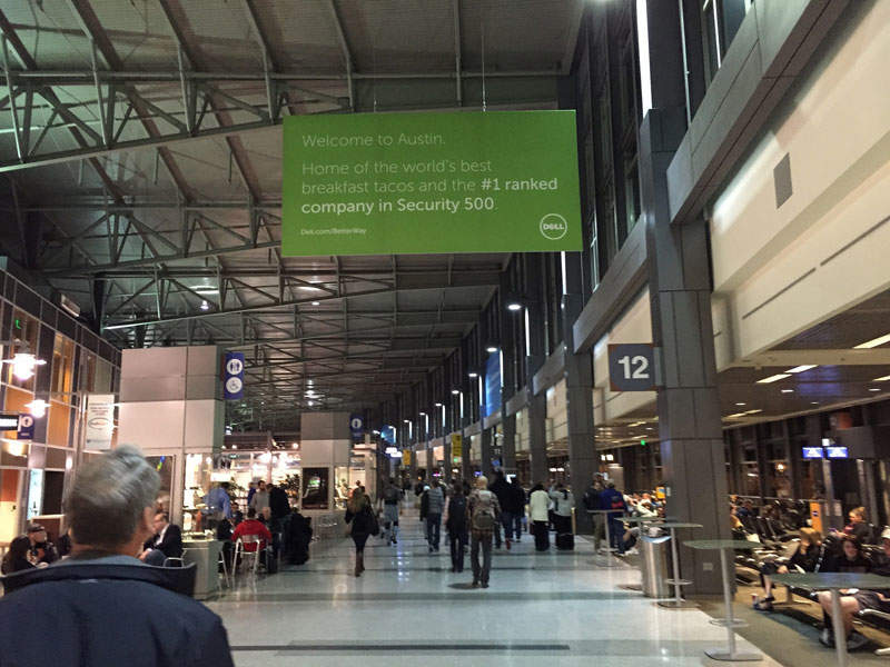 Austin Bergstrom Airport's South Terminal was expanded to ease congestion at the airport's main terminal, Barbara Jordan Terminal. Image courtesy of Jon Fingas.